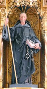 Der Viehpatron St. Leonhard im Schrein des Hochaltars © H. Roth