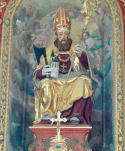 Darstellung des hl. Wolfgang im Hochaltar © C. Soika