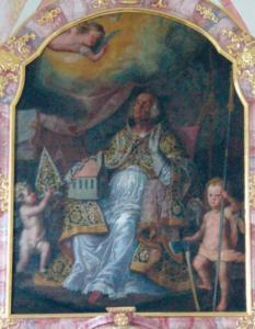 Darstellung des hl. Wolfgang im Altar © C. Soika
