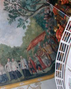 Im Deckengemälde: Übertragung des hl. Hauptes nach Siegsdorf © C. Soika