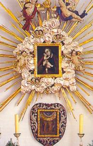 """""""Maria Hilf"""", darunter das Wallfahrtsbild © C. Soika"""