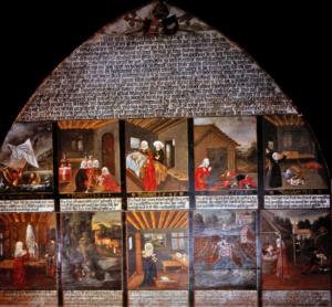 Notariell beglaubigte Mirakeltafel, Großgmain ca. 1513/1550 © J. Lang