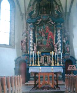 Der Altarraum in Torren © K. Birnbacher