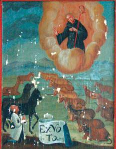 Votivbild für St. Leonhard, den Schutzpatron des Viehs © C. Soika