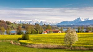 Blick in die Berge © Tourist-Info Waginger See / Richard Scheuerecker